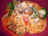 Spaghetti con Salchicha Italiana