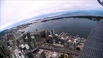 EdgeWalk Flyby at the CN Tower in Toronto (Ontario, Canada) #ExploreCanada