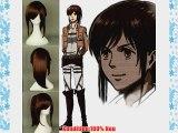 COSPLAZA Cosplay Wig Kostueme Peruecke Sasha Blaus dunkelbraun Ponytail Anime Synthetische
