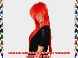 80er Jahre Per?cke rot Glam Rock lang WIG 9666-137