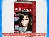 Schwarzkopf Brillance K?hles Graphit-Braun 881/Haarfarbe/ Coloration/Intensiv-Color-Creme 2er