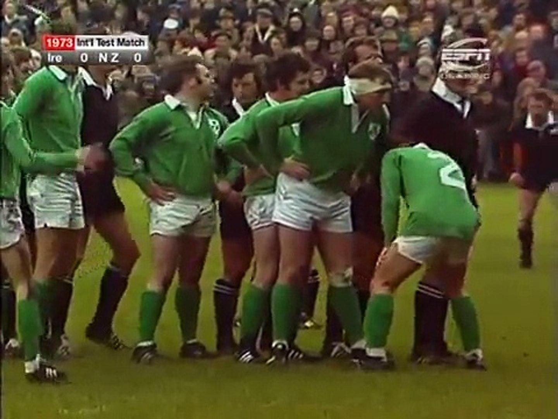 1973 Rugby Union Test Match: Ireland vs New Zealand All Blacks (Highlights)