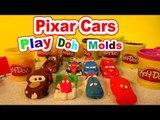 Pixar Cars Play Doh Lightning McQueen, Mater, and Francesco Bernoulli from Playdoh Molds Cars2