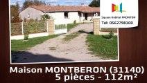 A vendre - Maison/villa - MONTBERON (31140) - 5 pièces - 112m²