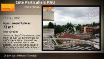 A louer - Appartement - PAU (64000) - 3 pièces - 72m²