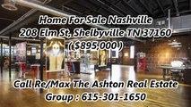 Homes For Sale Nashville by Re/Max The Ashton Real Estate Group : 208 Elm St, Shelbyville TN 37160