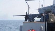 US Sailors Firing the Twin 50 Cal Anti Aircraft Gun & Navy Guns