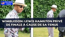 Wimbledon: Lewis Hamilton privé de finale à cause de sa tenue