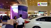 Curved LED display in circle,P4 thin and light weight écran LED de location