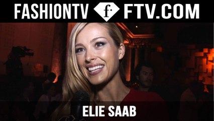 Elie Saab Front Row ft. Petra Nemcova| Paris Haute Couture Fall/Winter 2015/16 | FashionTV