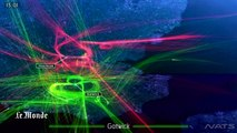 Une simulation vidéo montre la densité du trafic aérien dans le ciel londonien