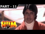 Hum [ 1991 ] - Hindi Movie in Part 11 / 13 - Rajnikanth - Amitabh Bachchan - Govinda - Kimi Katkar