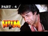 Hum [ 1991 ] - Hindi Movie in Part 4 / 13 - Rajnikanth - Amitabh Bachchan - Govinda - Kimi Katkar