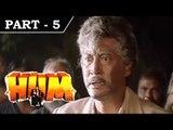 Hum [ 1991 ] - Hindi Movie in Part 5 / 13 - Rajnikanth - Amitabh Bachchan - Govinda - Kimi Katkar