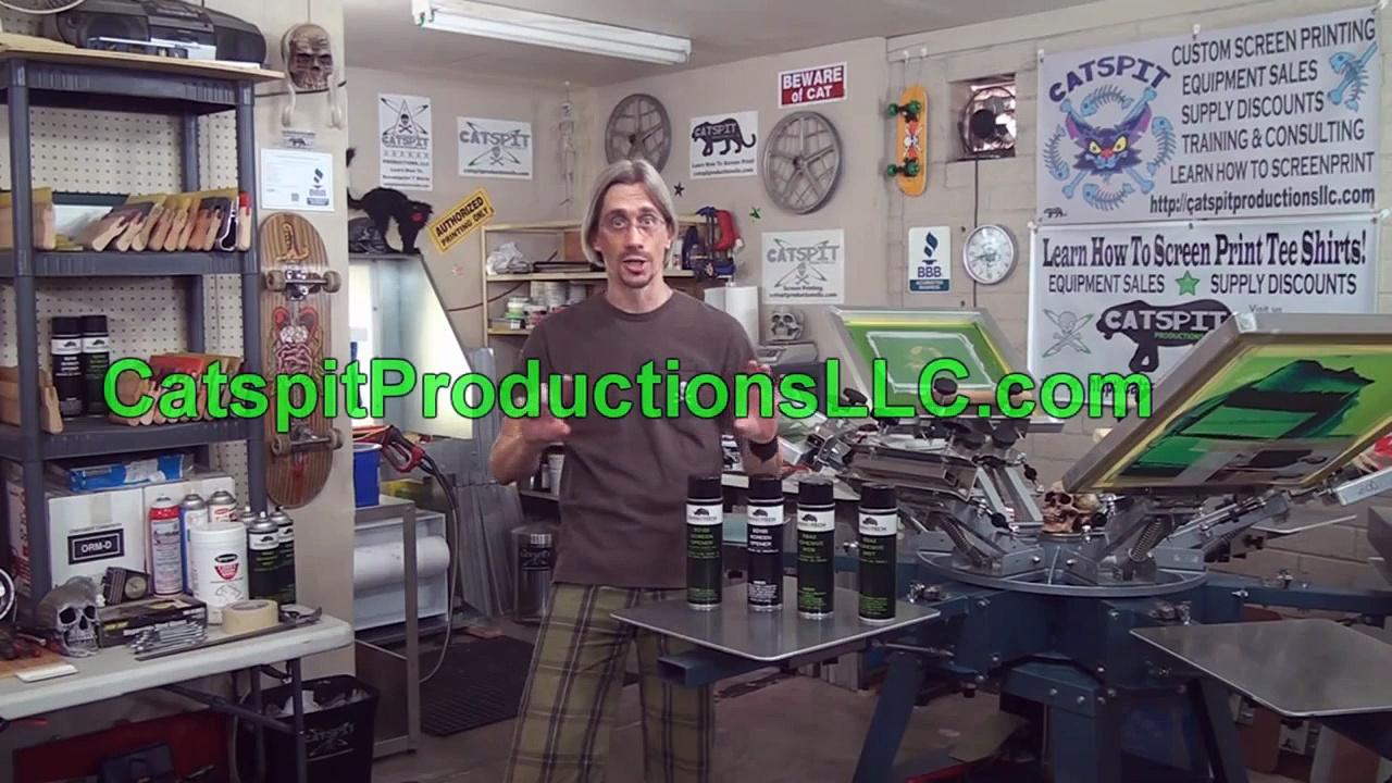 Screen Printing Product Review: RhinoTech's Spray Tacks & Screen Openers
