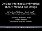 Collapse Informatics and Practice: Theory, Method, and Design
