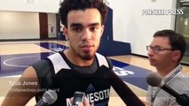 Tyus Jones talked about playing D'Angelo Russell before his NBA summer league debut #twolves