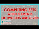 452.Class XI - CBSE, ICSE, NCERT -  Computing Sets when elements of two sets are given