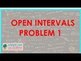 478.$ CBSE  Maths Class XI, ICSE Maths Class 11-   Open intervals Problem 1