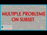 480.$ CBSE  Maths Class XI, ICSE Maths Class 11-   Multiple problems on subset