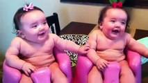 Funny Twin babies Laughing, Crying, and then Laughing again -