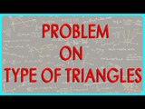 418.CBSE Class VI Maths,  ICSE Class VI Maths -   Problem on Type of Triangles