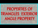 137-CBSE Class VI maths,  ICSE Class VI maths -   Properties of Triangles  - Exterior angle property