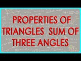 139-CBSE Class VI maths,  ICSE Class VI maths -   Properties of Triangles  - Sum of three angles