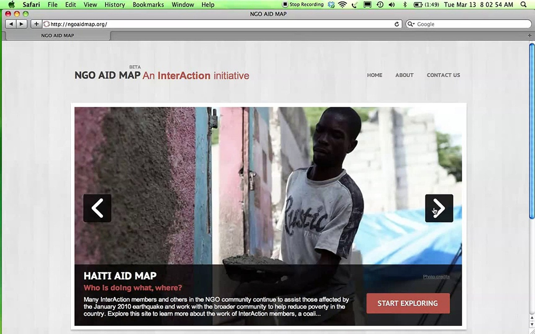NGO Aid Map - Overview & Functionality