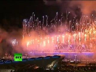 2012 LONDON OLYMPICS - Opening Ceremony FIREWORKS. Amazing!