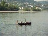 """Eines der letzten """" Echten Dampfschiffe """" auf dem Rhein"""