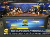 Daniel Urresti y Patricia del Río se enfrentan verbalmente en vivo 23.01.2015 (RPP)
