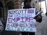 Schiller Institute demonstrates against Tony Blair