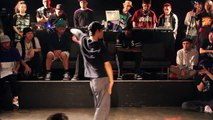Aziz vs Gin popping battle. French legend dancer vs Japanese up-and-comer. Old School Night 2015.