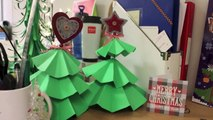 DIY Christmas decorations | How to make paper Christmas trees and decorations | Christmas work desk
