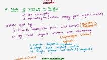 FSc Biology Book1, CH 8, LEC 3; Nutrition in Fungi