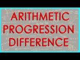 1369. Arithmetic Progression - Difference - Class X Maths - CBSE, ICSE, NCERT