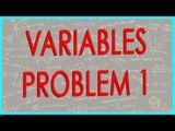 $ CBSE Class VI Maths,  ICSE Class VI Maths -   Variables Problem 1
