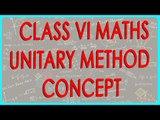 CBSE Class VI Maths,  ICSE Class VI Maths -   Unitary method - Concept
