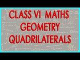 63. CBSE Class VI maths,  ICSE Class VI maths -   Geometry - Quadrilaterals