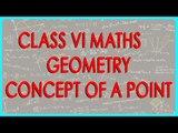 CBSE Class VI maths,  ICSE Class VI maths -   Geometry - Concept of a Point
