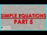$ CBSE Class VII Maths,  ICSE Class VII Maths -   Simple equation Part 5