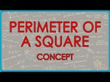 $ CBSE Class VI Maths,  ICSE Class VI Maths -  Permimeter of square concept