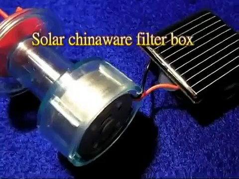 Solar chinaware filter box (mini solar aquaponics)