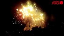 Rennes : l'intégrale du feu d'artifice du 14-Juillet (lundi 13 juillet 2015) à la Bellangerais
