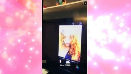 Next level selfie-taking from Rihanna who uses a TELEVISION to get the perfect shot