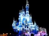 Cinderella castle Walt Disney World Light show . Chateau cendrillon