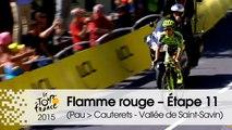 Flamme rouge / Last KM - Étape 11 (Pau > Cauterets - Vallée de Saint-Savin) - Tour de France 2015
