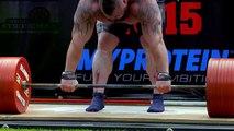 """No querrás meterte con """"La Bestia"""" rompió récord mundial levantando 463kg"""