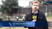 Dalia Rabin plants tree in Madrid ceremony: daughter of former Israeli PM Yitzhak Rabin